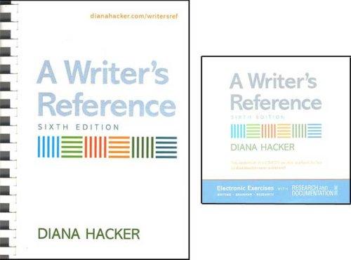 Writer's Reference 6e & Electronic Exercises