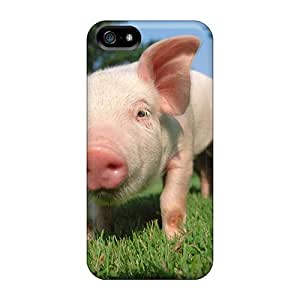Fashionable Style Case Cover Skin For Iphone 5/5s- Pig With Snout Green Grass