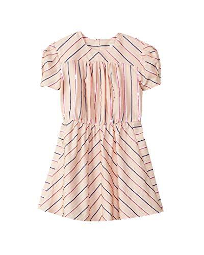 BURBERRY Girls Olive Silk-Blend Dress, 6Y, Pink
