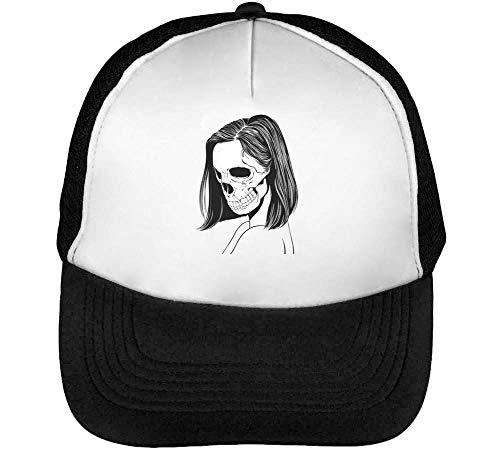 Snapback Sideview Blanco Hombre Negro Beisbol Gorras Portrait Woman Skull xUXpwnqgFS