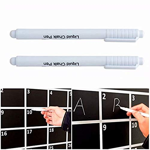 Heyuni.White Chalk Markers Fine reversible tip Liquid Chalk Marker Pen White for Bistro menu boards, Glass, Windows, Blackboard 1PC