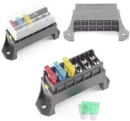 Caja de fusibles 6 way para base de bloque de soporte de Fusible ...
