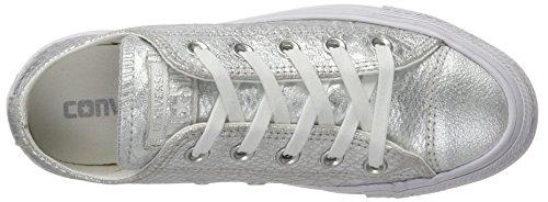 Converse Ladies Scarpe Chuck Taylor Ox Snakeskin Modello Argento / Bianco Multicolore (argento Metallico Rettile)