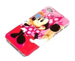 """""""Justo"""" Minnie, Cubierta de plástico duro & """"Wow"""" Azul Marino, Calcetín - para iPhone 4. Paquete único de Cubierta / Estuche / Carcasa / Funda - para iPhone 4 & Único Calcetín / Eunda / Estuche apto - para iPhone 4."""