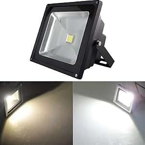 Black Waterproof 20W 2000LM 2800-7000K Cold White Light and Warm White Light LED Flood Lamp (85V-265V) , Cold White