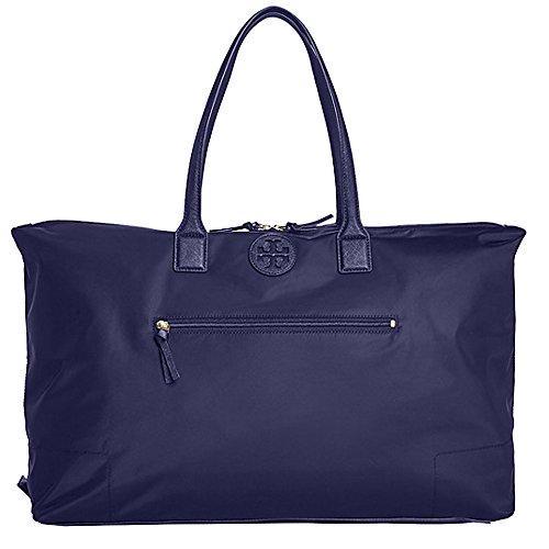 Tory Burch Ella Handbag Bag Nylon Packable Overnight Satchel Purse - Tory Nylon Burch