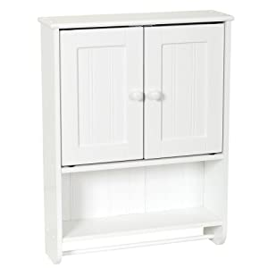 Zenna Home 9114W, Cottage Collection Wall Cabinet, White