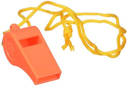 SE WH3-B-100 Orange Plastic Whistles with 14