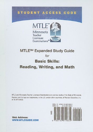 MTLE Expanded Study Guide -- Access Card -- For Basic Skills: Reading, Writing, And Math