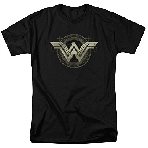 Trevco Men's Batman V Superman Ancient Emblems Short Sleeve Adult T-Shirt at Gotham City Store