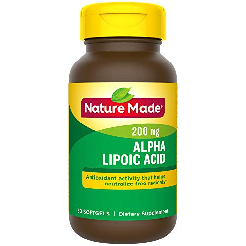 - Nature Made Alpha Lipoic Acid 200mg Softgels, 30 Count for Antioxidant Support† (Packaging May Vary)