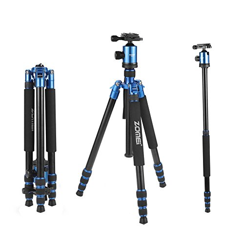ZOMEi Z818 Hiking Tripod For DSLR Cameras Canon Nikon Sony ( Blue ) by ZOMEI