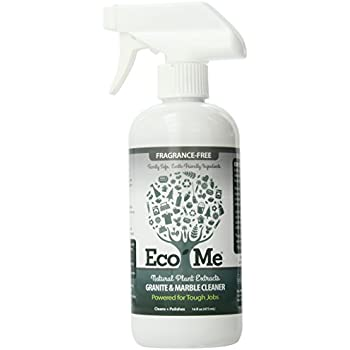 Eco-Me Natural Granite and Marble Cleaner, Fragrance-Free, 16 Ounce