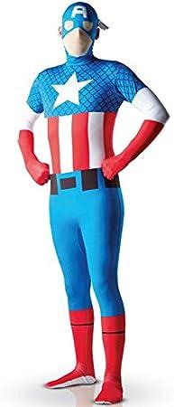 Disfraz segunda piel Capitán América? adulto - M - 1.50 m a 1.60 m ...