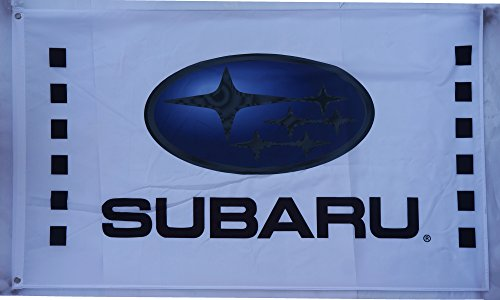 subaru flag white subaru racing flag subaru car exhibition flag subaru car show flag subaru car banner--polyster flags,Brass Grommets ,Anti-UV,Digital Printing---car flags 3X5 ft (Happy Halloween Pole Dance)