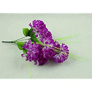 ZJJFZH Artificial Decorative Flowers 9 Step by Step high Ball Chrysanthemum Artificial Flowers Qingming Festival Sacrifice Artificial Flowers Buddha for Artificial Flowers Cemetery Flowers 18