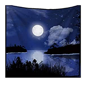 Night Scence Moon Printed Tapestry Wall Hanging Decor Carpet Home Decor Hanging Living Printing Wall Tapestry