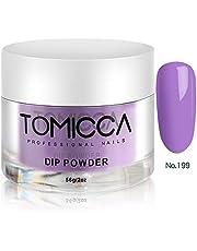 TOMICCA Nail Dipping Powder Nail Art Dust Powder, 56g per Jar (Purple Set)