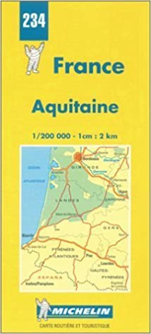 Michelin Aquitaine, France Map No  234 (Michelin Maps