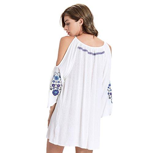 Fur Story 17B163 Femme Casual manches Mini robe ¨¦vas¨¦e