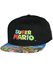 Nintendo Super Mario Youth Embroidered Character Group Boys Adjustable Snapback Hat Baseball Cap