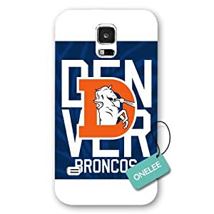 Onelee(TM) - White Frosted NFL Team Denver Broncos Logo Samsung Galaxy S5 Case & Cover - White 3