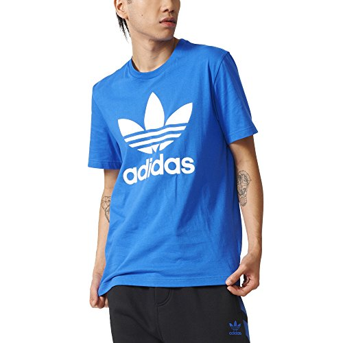 2bf683084e4ea SHOPUS | adidas Originals Men's Tops Trefoil Tee, Blue Bird ...