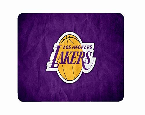 (Computer Laptop Mousepad Mat Mouse Pad Lakers Birthday Christmas Valentine Anniversary Halloween Kids Basketball Gift D2)