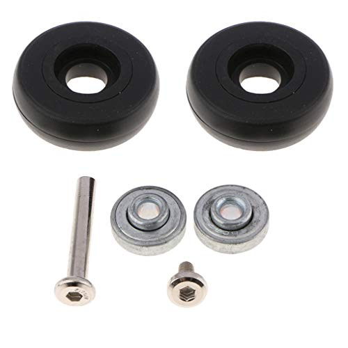 - gazechimp Travel Luggage Mecanum Wheels, Suitcase Casters Rolling Wheel Replacement Parts, with Nails