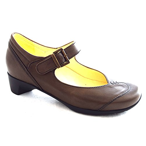 Ladies Wolky Opal Leather Shoe Ascot Jane Mary 80150 Taupe F7PWxw4q75