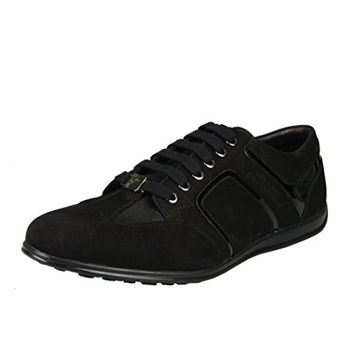 Versace-Collection-Black-Suede-Fashion-Sneakers-Shoes