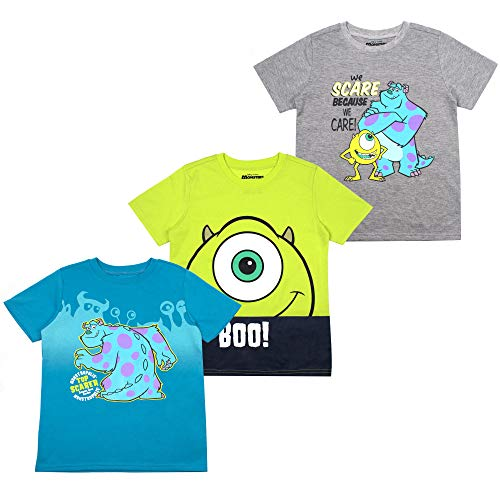 Disney Monsters Inc. Toddler Boys' T-Shirt (Pack of 3) 5T Grey -