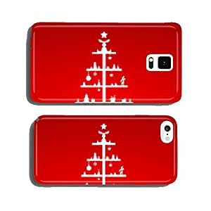 abstract christmas tree cell phone cover case Samsung S6