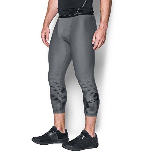 Under Armour Men's HeatGear Armour Graphic ¾ Leggings,Graphite (040)/Black, Large