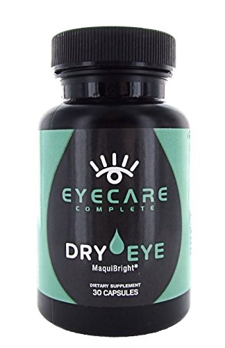 Eye Care Complete ®: Dry Eye Vitamin Supplement for Dry, Itchy, and Red Eyes w/ Maqui berry extracts. Convenient, effective, & Powerful alternative to eye drops, gels, and masks.