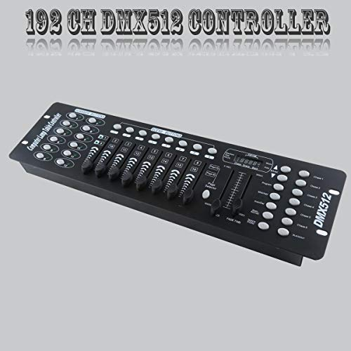 TC-Home 192 Channels DMX512 Light Controller Console For Stage Light Party Moving Heads DJ Operator Equipment (192 Channel Controller)