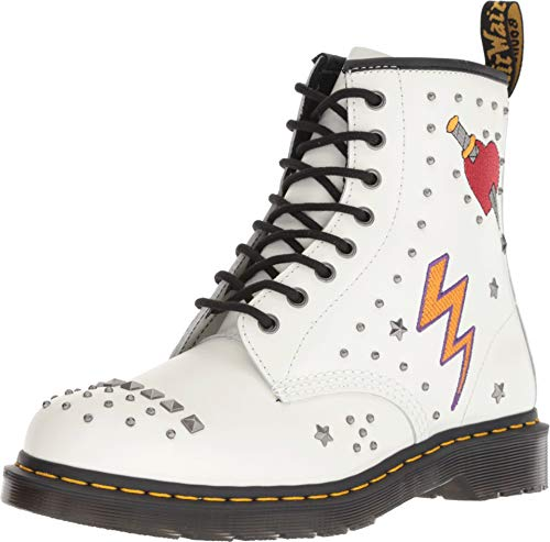 Dr. Martens - Unisex-Adult 1460 8 Eye Boot, Size: 8 D(M) US / 7 F(M) UK / 9 B(M) US, Color: White Smooth (Furniture Imported Outdoor)