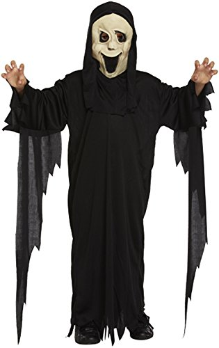 Boys Girls Scream Robe and Mask Halloween Costume Age 4 - 12 (4-6 years)