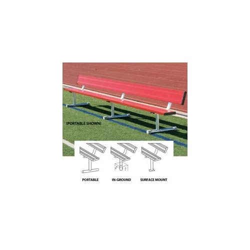 Image of BSN BEPG08CB 75' Portable Bench Without Back, Royal Court & Rink Equipment