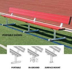 Price comparison product image BSN BEPH08CR 75' Surface Mount Bench without Back, Red