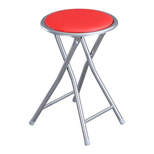 - MCLY Shower Seats, Red PU Leather Stool Portable Folding Round Shower Stool (2 Pack) / Elderly/Disabled/Pregnant Women/Home Simple Stool