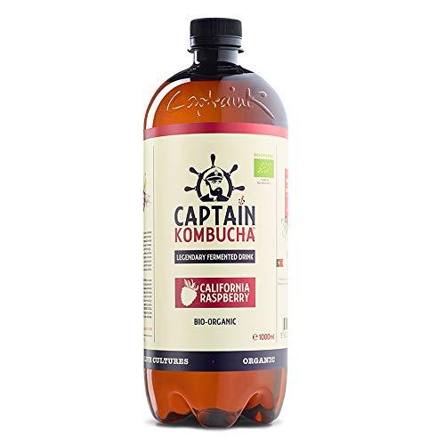 Captain Kombucha California Raspberry, Te de Burbuja - 100