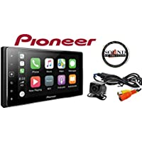 Pioneer MVH-1400NEX Digital Multimedia Video Receiver with 6.2 Capacitive Touchscreen Display, Apple CarPlay (Does NOT Play CDs) w/ Universal Backup Camera & a SOTS Air Freshener