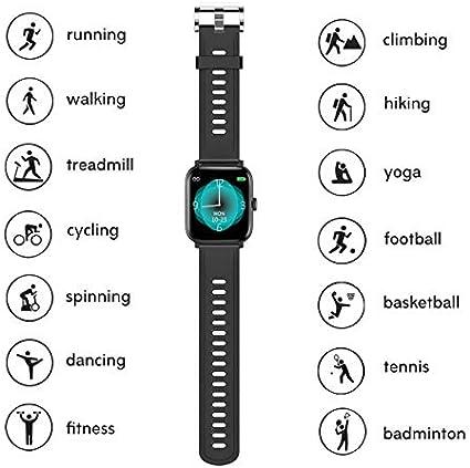 Lucky-M - Reloj Inteligente con Pantalla táctil Completa de 1,54 ...