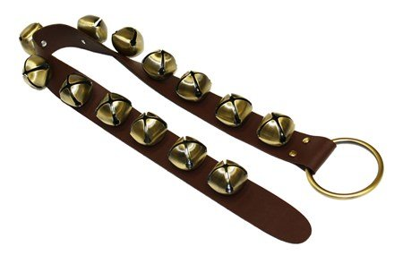 Sleigh Bells on 33 IN Leather Strap by Ohio Travel Bag