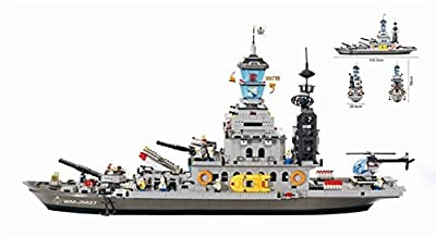 Otulet Aircraft Carrier The Cruiser Military Building Bricks Blocks Set Children Educational Puzzle Intelligent Toys with Huge Gift Box - 1745pcs