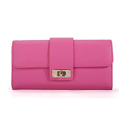 YIYI For Girls Holders Wallet Clutch Card Women ID Fashion Bifold Leather Phone Purse Long Coin Ladies Red Handbag OCFOSwqr