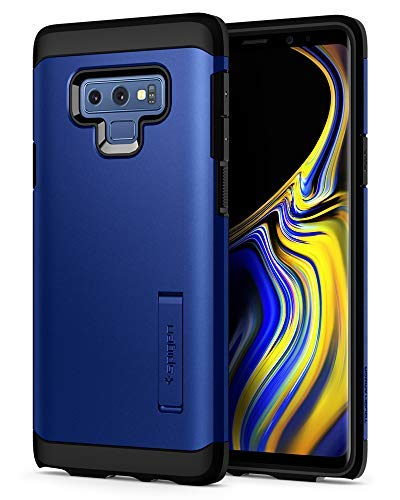 Spigen Tough Armor Galaxy Note 9 Case with Kickstand and Extreme Heavy Duty Protection and Air Cushion Technology for Samsung Galaxy Note 9 (2018) - Ocean Blue