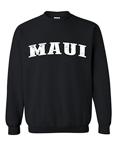 Ugo Maui Hawaii Travel Guide Flag What to do in Hawaii? Beaches Near Me Unisex Crewneck - Baby Beach Maui In