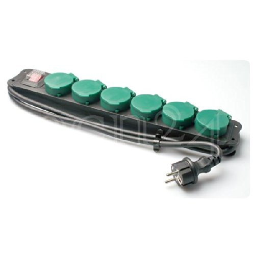 Steckdosenleiste Außenbereich Feuchtraumsteckdose 6fach
